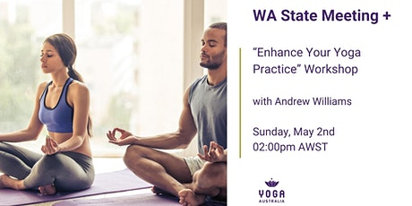 """WA State Meeting + """"Enhance Your Yoga Practice"""" Workshop tickets"""