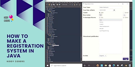 Prerecorded  Class: How to make a registration system in Java tickets
