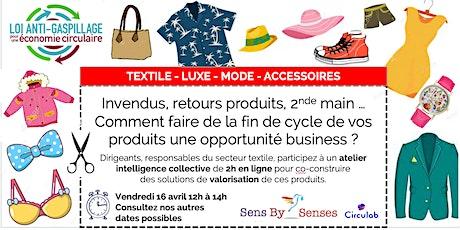 Atelier en ligne lutte contre le gaspillage vestimentaire billets