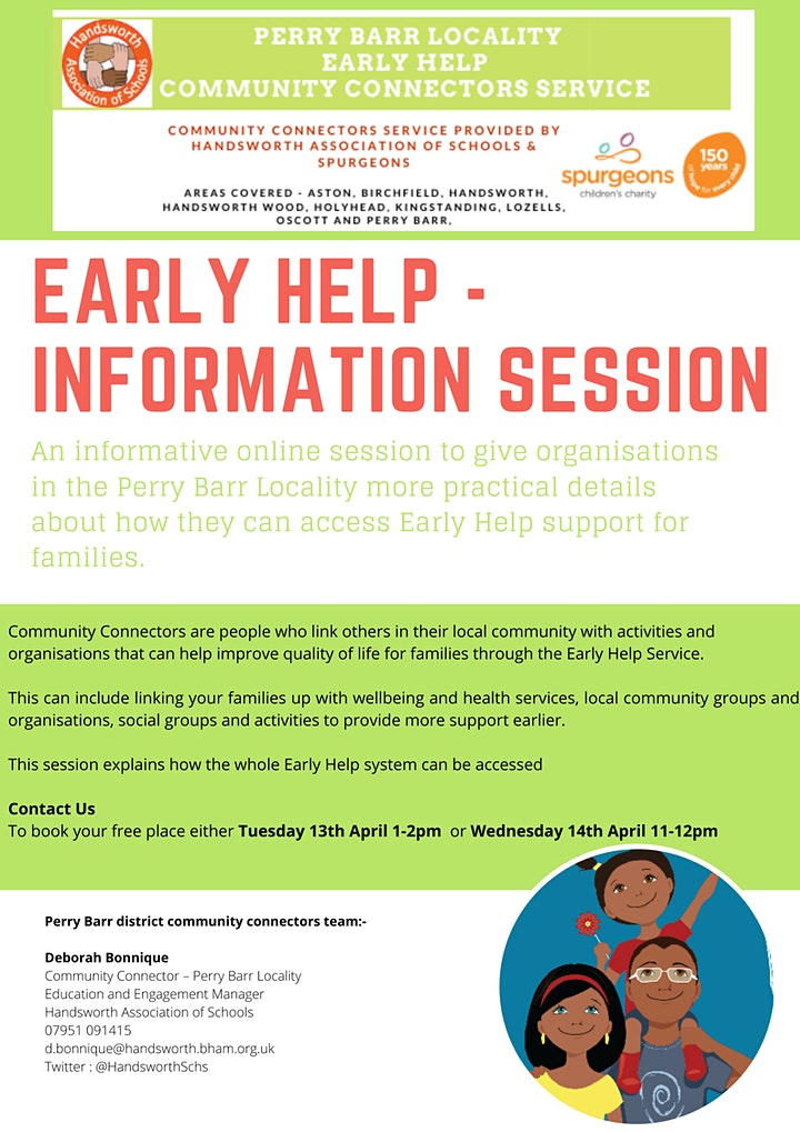 Early Help- Community Connectors Information Session 14th April image