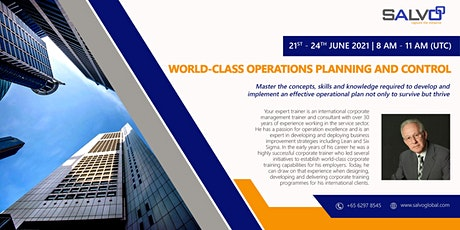 World-class Operations Planning and Control tickets