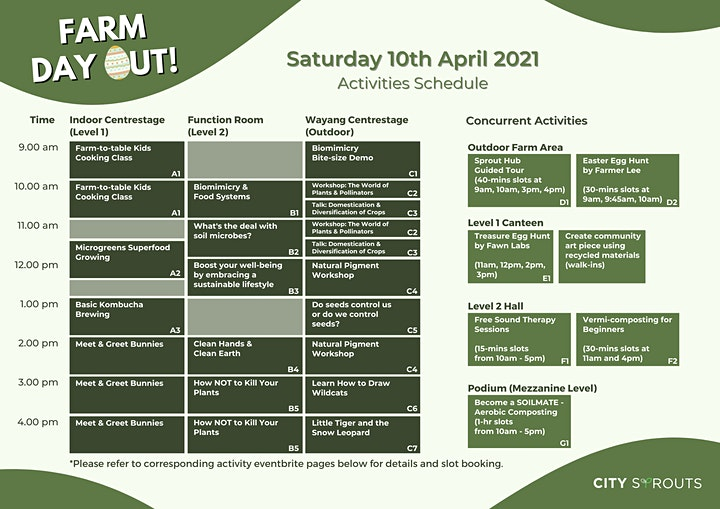 City Sprouts Farm Day Out Easter theme - FREE ENTRY 10th & 11th April 2021 image