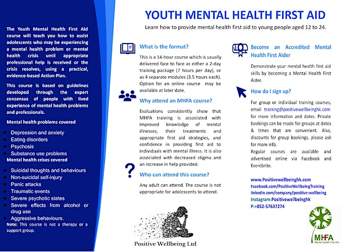 Youth Mental Health First Aid (14 hrs Training) May 27-28 image
