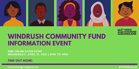 Windrush Community Fund Information Event tickets