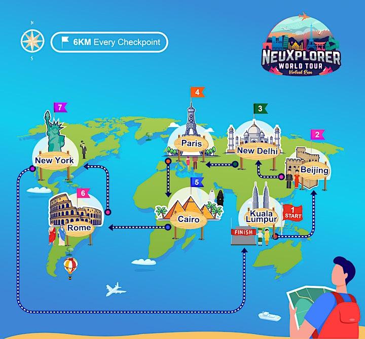 NeuXPlorer World Tour Virtual Run 2021 image