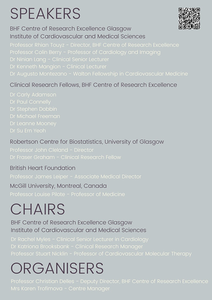 Hot Topics in Cardiovascular Research - Virtual Symposium image