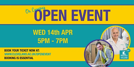 Redcar and Cleveland College Open Event tickets