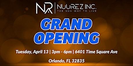 NUUREZ INC. Grand Opening tickets