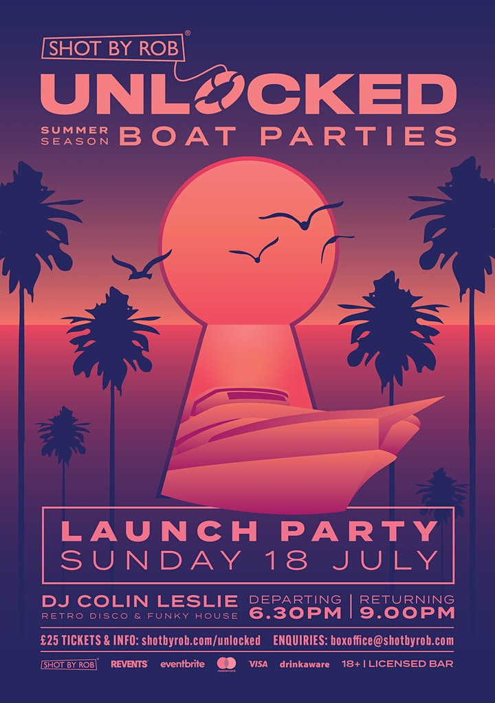 UNLOCKED BOAT PARTY WITH DJ COLIN LESLIE image