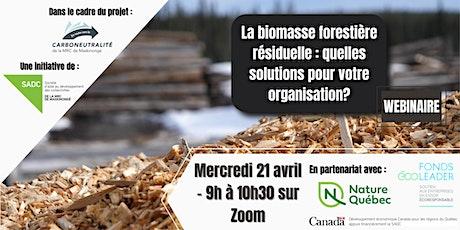 La biomasse forestière : quelles solutions pour votre organisation? billets