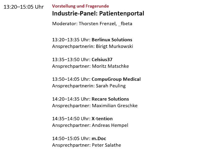 Industrie-Panel: Patientenportal in Zeiten des KHZG: Bild