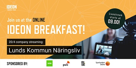 Ideon Breakfast Online with Lunds Kommuns Näringsliv tickets
