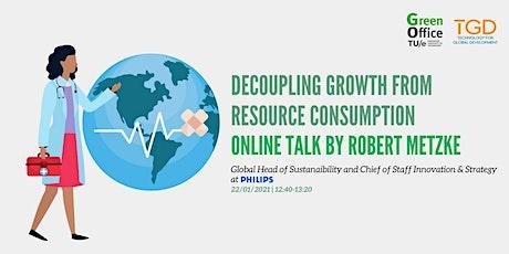 Talk with Robert Metzke - Green Week TU/e tickets