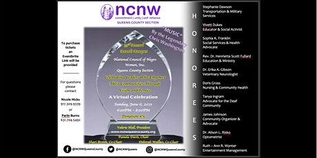 NCNW , Inc Queens County Section 2021 Awards Banquet tickets