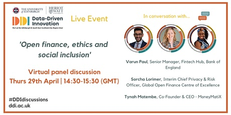 #DDIdiscussions: Open Finance, Ethics and Social Inclusion tickets