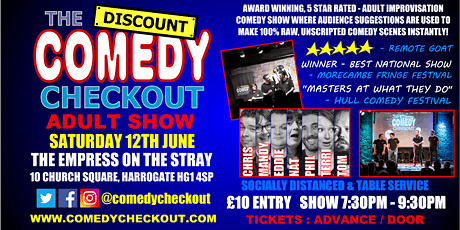 Comedy Night at The Empress on the Stray Harrogate - Saturday 12th June tickets