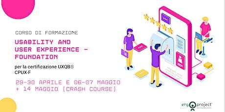 Corso CPUX-F Online 29-30 Aprile e 6-7 Maggio 2021 biglietti