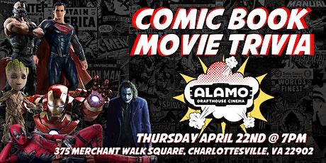 DC Comic Book Trivia at Alamo Drafthouse Charlottesville tickets