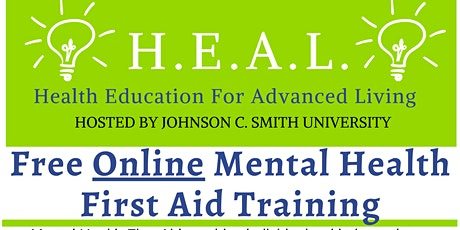 Mental Health First Aid- HEAL, Health Education for Advanced Living tickets