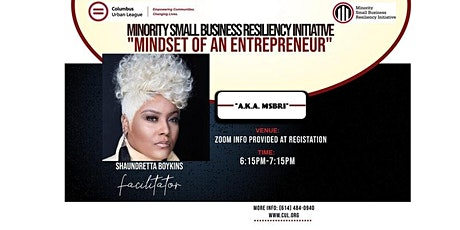 Mindset of an Entrepreneur Workshop tickets