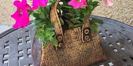 Clay Handbag  Flower Container - Handbuilding with Jan Mok tickets