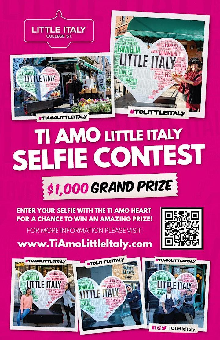 Ti Amo Little Italy Selfie Contest - Draw 4 image