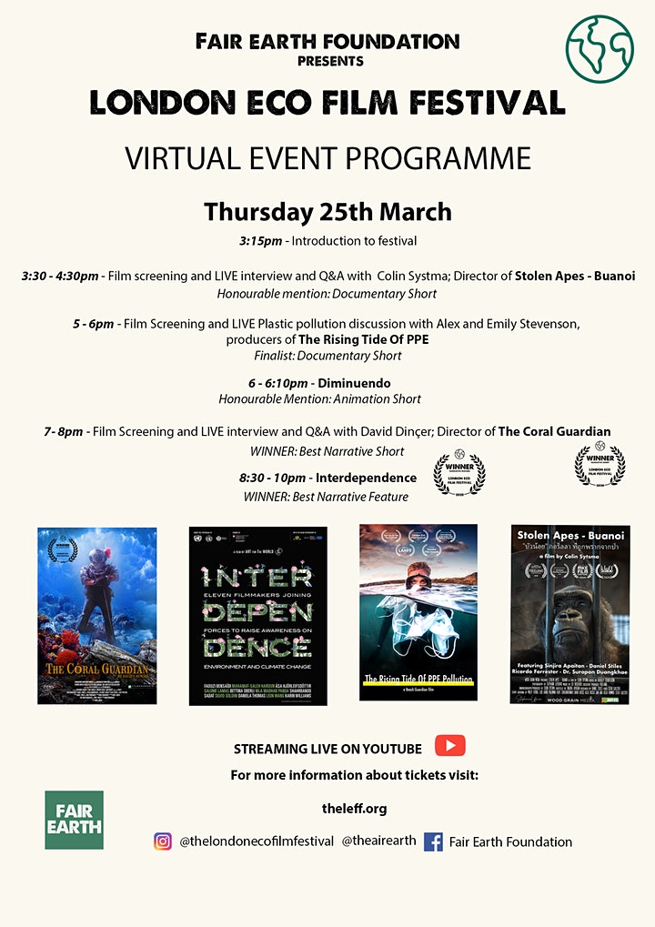 London Eco Film Festival Virtual Event image