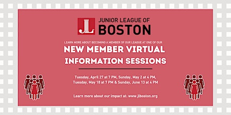 Junior League of Boston New Member Virtual Information Session tickets