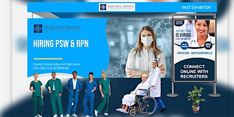 Healthcare (PSW, RPN, RN) Virtual Career Fair - August 25th, 2021 tickets