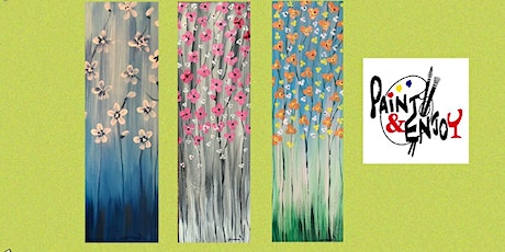"Paint and Enjoy at Lincolnway Flower Shop ""Spring Flowers "" on Wood tickets"