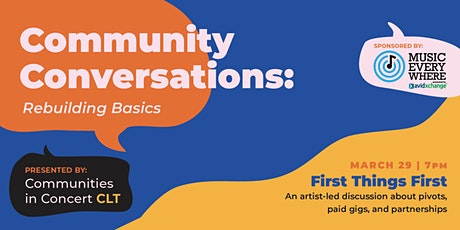 Community Conversations: Rebuilding Basics tickets
