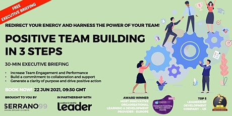 EXECUTIVE BRIEFING -  POSITIVE TEAM BUILDING IN 3 STEPS tickets
