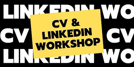 FREE CV & LinkedIn Workshop tickets