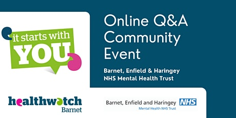 Online Q&A Event with Barnet, Enfield & Haringey NHS Mental Health Trust tickets