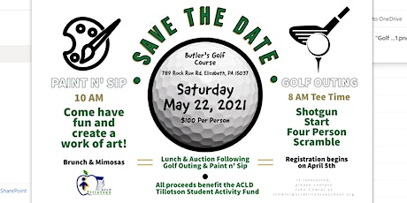 ACLD Tillotson School 2021 Golf Outing & Paint 'n Sip tickets