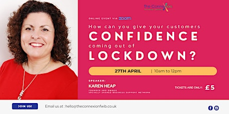 How Can You Give Your Customers Confidence Coming out of Lockdown tickets