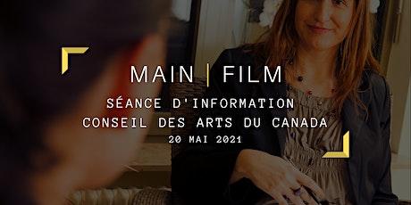 Séance d'information Conseil des Arts du Canada  | En ligne billets