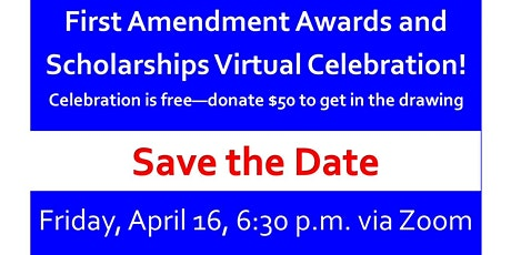 18th Annual First Amendment Awards and Scholarships Celebration--Virtual tickets