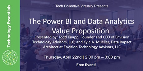 The Power BI and Data Analytics Value Proposition tickets