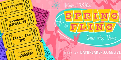 Daybreaker LIVE // Rock n' Rollin' Spring Fling: A Sock Hop Dance billets