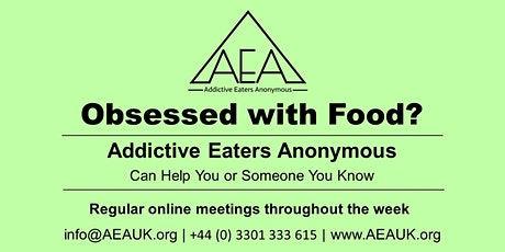 Addictive Eaters Anonymous Free Online Meeting- open to all tickets