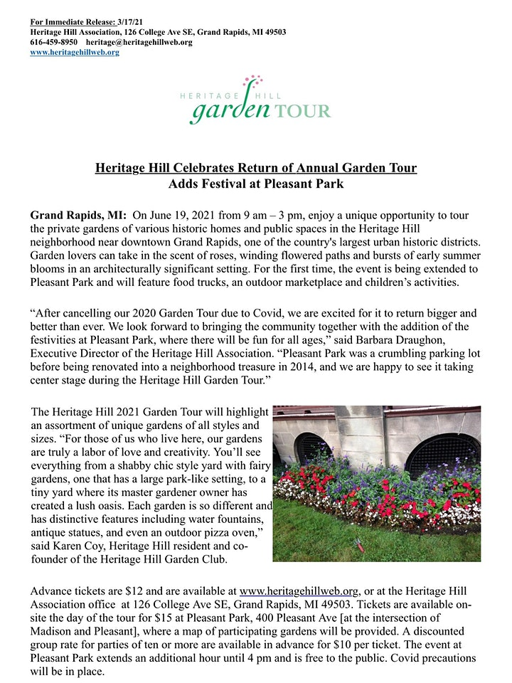 Heritage Hill Garden Tour image