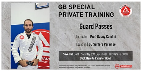GB Special Private Training At GB Surfers Paradise tickets