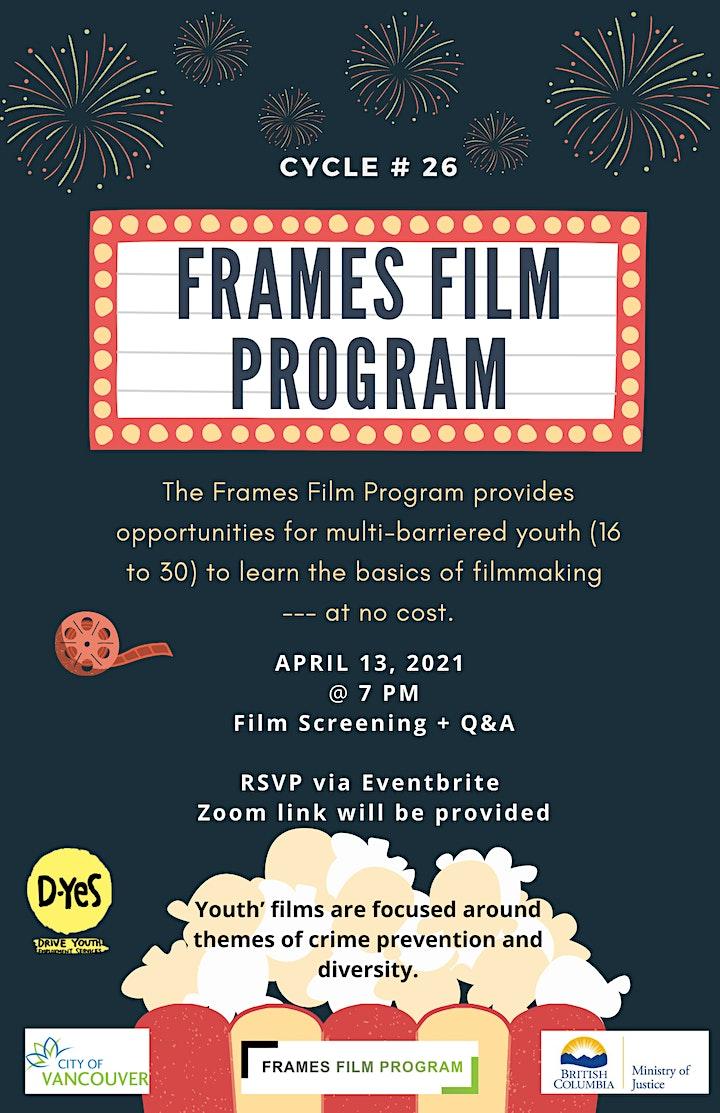 Frames Film Program Cycle #26  Virtual Graduation + Film Screening! image