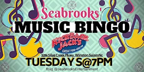 MUSIC BINGO! TUESDAYS 7PM,FREE TO PLAY W/ PRIZES KICKBACK JACKS WS tickets