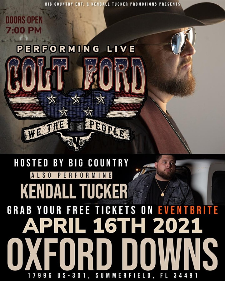 Colt Ford LIVE at Oxford Downs [FREE CONCERT] image
