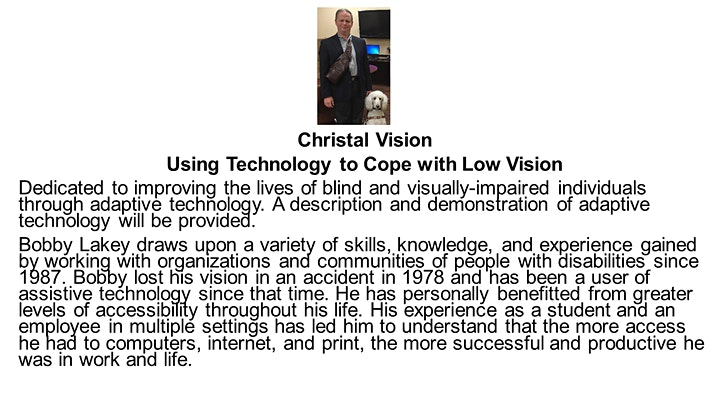 23rd Annual Low Vision Expo image