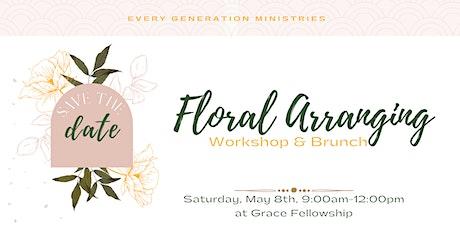 Floral Arranging Workshop & Brunch tickets