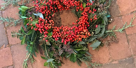 Wine & Flowers Workshop:  Evergreen Wreath tickets