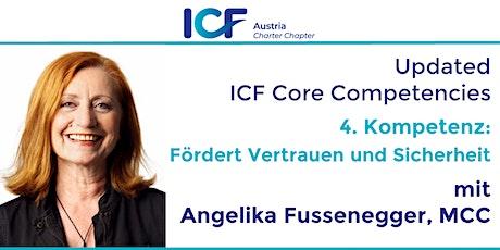 Updated  ICF Core Competencies: Fördert Vertrauen und Sicherheit Tickets